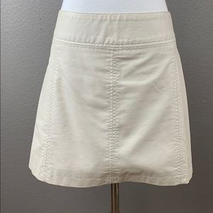 Free People off white vegan leather mini skirt